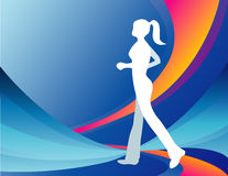 Jogging girl illustration Stock Images