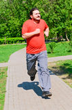 Jogging guy Stock Image