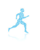 Jogging human silhouette. In vector format for medical concepts Royalty Free Stock Photos