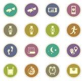 Jogging i treningu ikony zdjęcia stock