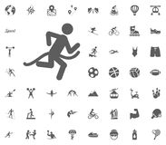 Jogging icon. Running icon. Sport illustration vector set icons. Set of 48 sport icons. Jogging icon. Running icon. Sport illustration vector set icons. Set of Royalty Free Stock Image