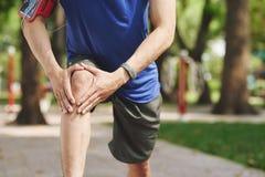 Jogging injury Royalty Free Stock Image