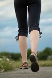 Jogging legs closeup Stock Photos