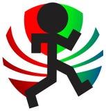 Jogging logo. Jogging silhouette illustrated logo design Royalty Free Stock Photos