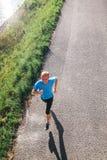 Jogging mężczyzna odgórnego widoku portret Obrazy Royalty Free