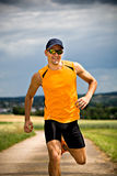 Jogging man Stock Photo