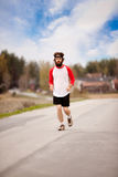 Jogging Man stock image