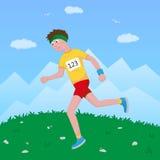 Jogging Man Stock Photo