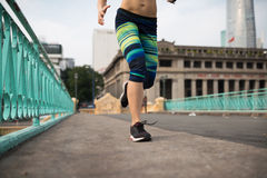Jogging on morning Stock Image