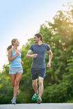 Jogging in the morning Stock Photography