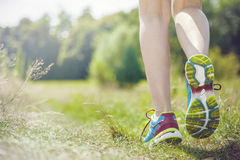 Jogging in the morning Royalty Free Stock Images
