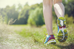 Jogging in the morning Royalty Free Stock Photography
