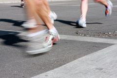 Jogging motion Royalty Free Stock Photo
