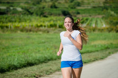 Jogging in nature Royalty Free Stock Photos