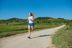 Jogging in nature Royalty Free Stock Photography