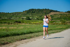 Jogging in nature Stock Images