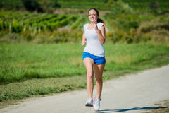 Jogging in nature Stock Photography