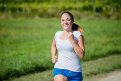 Jogging in nature Stock Photos