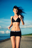 Jogging outdoors Stock Photography