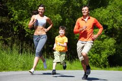 Jogging outdoors Royalty Free Stock Image