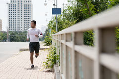 Jogging outdoors Royalty Free Stock Images