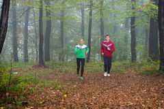 Jogging in pair Royalty Free Stock Photography