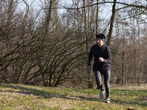 Jogging in the park Royalty Free Stock Photography