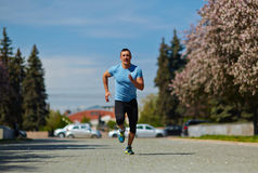 Jogging in park Royalty Free Stock Images