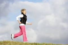 jogging park senior woman Στοκ Εικόνες