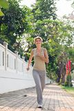 Jogging in the park Stock Images