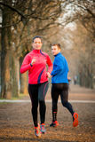 Jogging in park Royalty Free Stock Photography