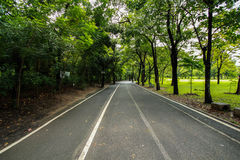 Jogging path in the park Stock Photography