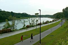 Jogging at PCN stock image