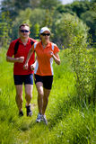 Jogging people Stock Images