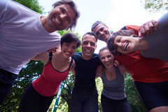 Jogging people group have fun Royalty Free Stock Photos