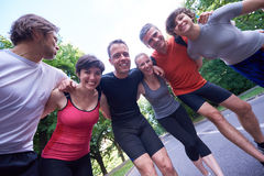 Jogging people group have fun Royalty Free Stock Images