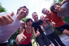 Jogging people group have fun Stock Photography