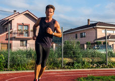 Jogging, relaxation after the working day Royalty Free Stock Photo