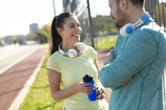 Jogging and running are fitness recreations. Jogging and running are healthy fitness recreations Royalty Free Stock Photos