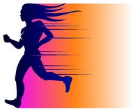 Jogging Running Woman logo Stock Images