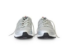 Jogging shoe. Man's jogging shoe isolated on white (contains clipping path royalty free stock photography