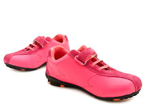 Jogging shoes. Over white background Royalty Free Stock Photography