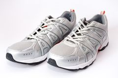 Jogging shoes. Man jogging shoes on white Royalty Free Stock Photos