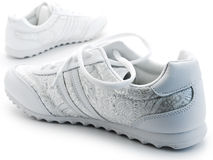 Jogging shoes. Pair of running shoes over the white background Royalty Free Stock Image