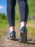 Jogging shoes closeup Royalty Free Stock Images