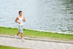 Jogging sport man Stock Photo