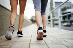 Jogging sportowe kobiety Obrazy Royalty Free