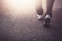 Jogging on the street Royalty Free Stock Photos