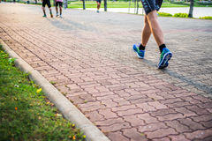 Jogging in Suan Luang Rama IX Public Park, Bangkok. Royalty Free Stock Photos