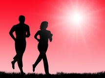 Jogging in the sun Royalty Free Stock Image